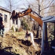 Landesk. Gemeinschaft Hohenstein-Ernstthal 2003 - Umbau und Neubau: Geländevorbereitung